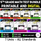 5th Grade Math Test Bundle:  Entire year - 7 Units - ALL C