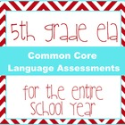 5th grade ELA Common Core Language Quizzes