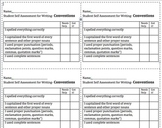 6 + 1 Writing- Student Self Assessment Rubrics