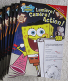 6 FRENCH SPONGE BOB L'EPONGE books fill in blank Literacy
