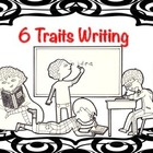 6 Traits Writing Poster Black White Red (Silly Circle Coll