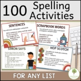 68 Spelling Activity Cards - Educational Teacher Resource