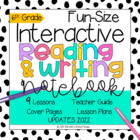 Interactive MINI Reading Journal 6th Grade CC