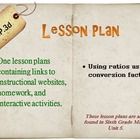 6th Grade Math:  6.RP.3d:  One Lesson Plan