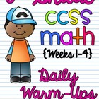 6th Grade Math Common Core Daily Warm Ups {Weeks 1-4}
