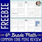 6th Grade Math Common Core Mini Review