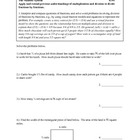 6th Grade Math Common Core Number Sense Worksheet Series