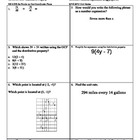 6th Grade Math Review 1 -- 6.RP.1, 6.NS.4, 6.NS.6a, 6.EE.2