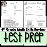 6th Grade Middle School Math Full Year Assessment Skills Review