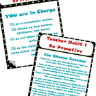 7 Habits Student & Teacher Posters PLUS Classroom Mission
