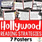 7 Reading Strategy Posters - Hollywood/Movie Theme
