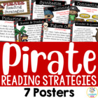 7 Reading Strategy Posters - Pirate Theme
