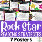 7 Reading Strategy Posters - Rock and Roll Theme