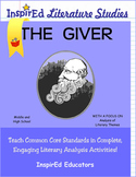 7207 The Giver Complete Literature Unit