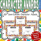 75+ Character Awards in PDF