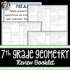 7th Grade Common Core Geometry Review Booklet