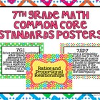 7th Grade Common Core Math Standards Posters- Tutti Fruity Print