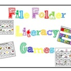 8 Literacy Center Games (File Folder Games)