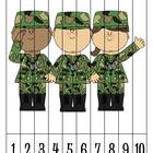 8 Veteran's Day Number Order Puzzles  {FREEBIE}