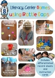 8 x Bottle Cap Literacy Center Games for any Word List {Mi