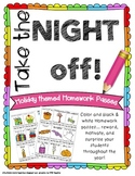 81 Holiday Themed Homework Passes in Color and Black & White!