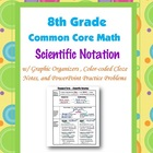 8th Grade Common Core Math - Scientific Notation Guided No