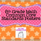 8th Grade Common Core Math Standards Posters- Rainbow Stars