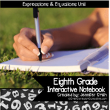 8th Grade Interactive Notebook Bundle- Expressions and Equations