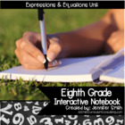 8th Grade Interactive Notebook Bundle- Expresions and Equa