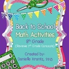 8th Grade Math Back to School Activities