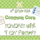 """8th Grade Math Common Core Charts or Posters with """"I Can"""""""