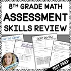 8th Grade Middle School Math State Test Prep Bundle