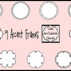 9 Rounded Black and White Frames