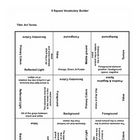 9 square activity- Art Terminology 2