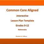 9th - 12th Grade Common Core Interactive Math  Lesson Plan
