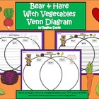A+ Bear & Hare With Vegetables Venn Diagram...Compare and