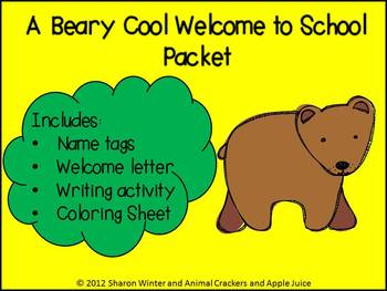 Editable A Beary Cool Welcome Packet