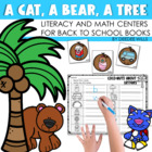A Cat, A Bear, A Tree Literacy and Math Stations for Back