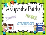 A Cupcake Party {spelling, grammar, and phonics practice}