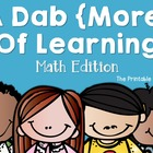 A Dab {More} of Learning: Math Edition (Bingo Dabber Activ