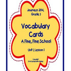A Fine, Fine School, Vocabulary Cards, Unit 1, Lesson 1, J