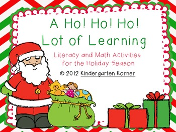 A Ho! Ho! Ho! Lot of Learning - Christmas Literacy and Mat