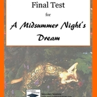A Midsummer Night's Dream Final Test