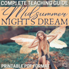 A Midsummer Night's Dream Literature Guide: CCS-Aligned Te