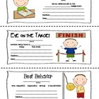 A Note from Your Teacher: Stick Kid Themed Parent-Teacher Notes