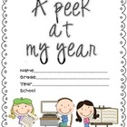 A Peek at My Year (An End of the Year Memory Book)
