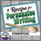 A Persuasive Writing Recipe PowerPoint