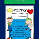A+ Poem In Your Pocket:  Poster & Writing Paper