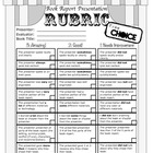 Book Report Presentation Rubric