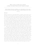 A Primer on Science Process for the Teacher  Wtih Doubts